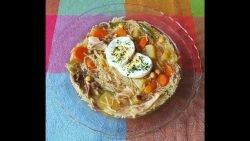 Sopa fácil con pollo y verdura