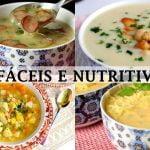 4 SOPAS DELICIOSAS, FÁCILES Y NUTRITIVAS - RECETAS QUE ME ENCANTA