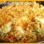 ARROZ CON ALITAS DE POLLO O ARROZ CON VERDURAS Y POLLO | Recetaza sencilla, deliciosa y rápida