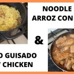 Arroz con fideos y pollo guisado | Noodle rice and chicken stew | COCINANDO CON MAMI