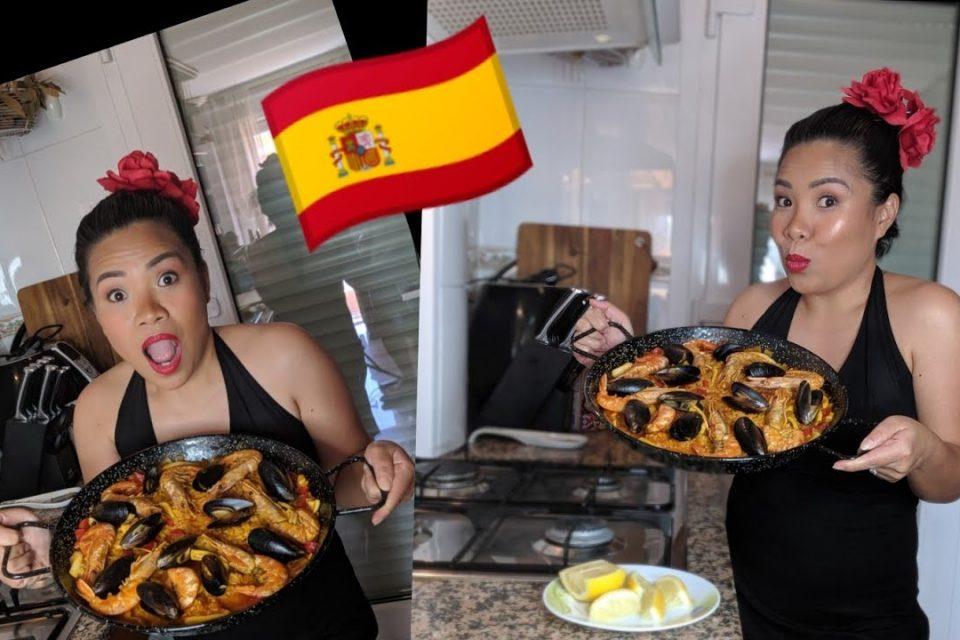 Cómo cocinar paella (mariscos) | Liezel Belle