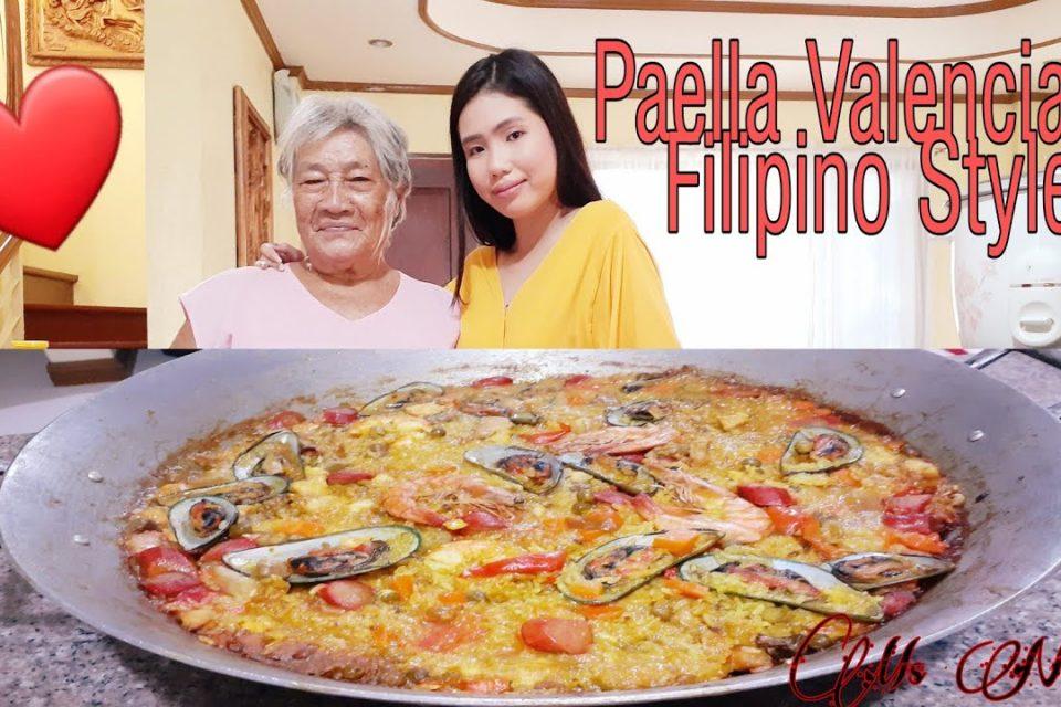 Cocinar Paella Valenciana Al Estilo Filipino