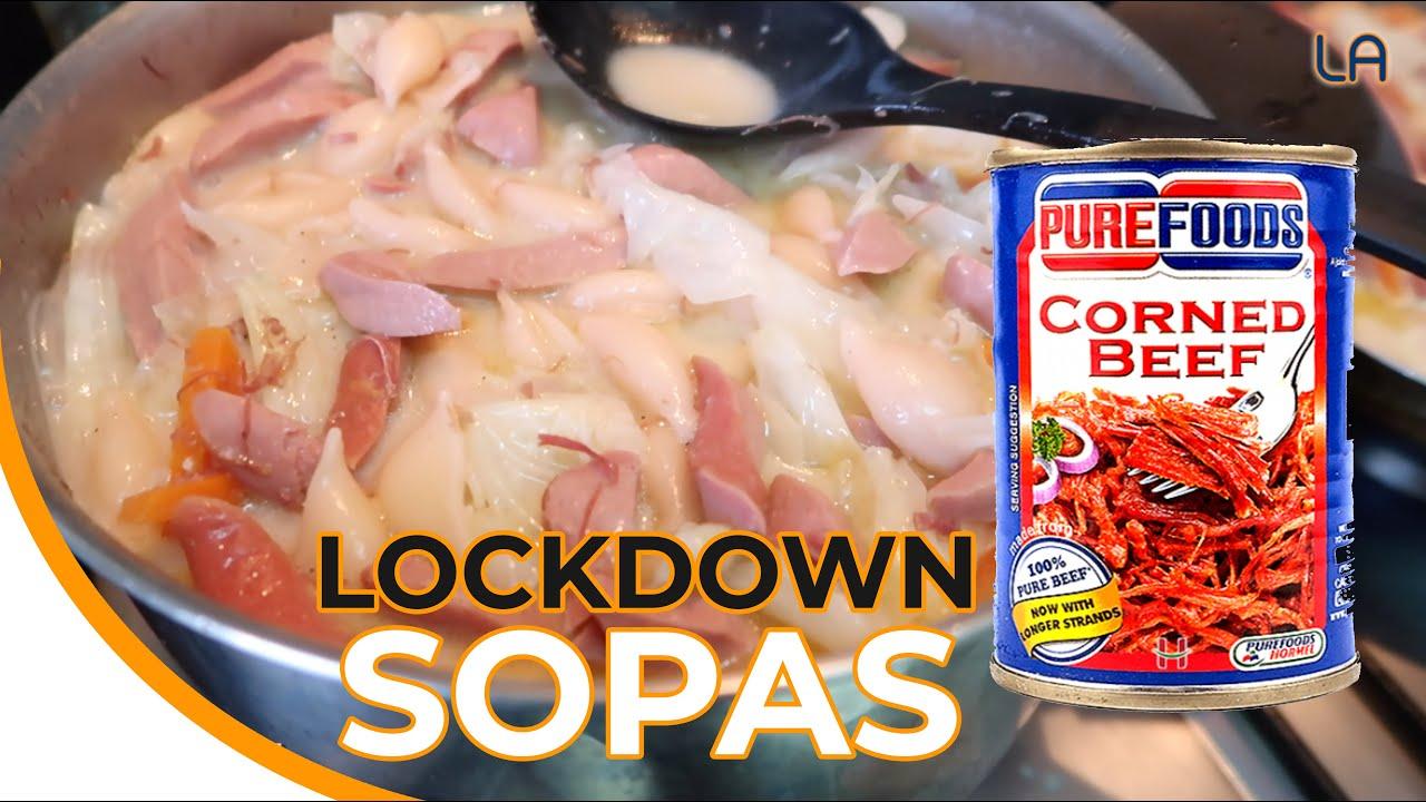 Corned Beef Sopas Best Pang Meryenda pang Quarantine Food