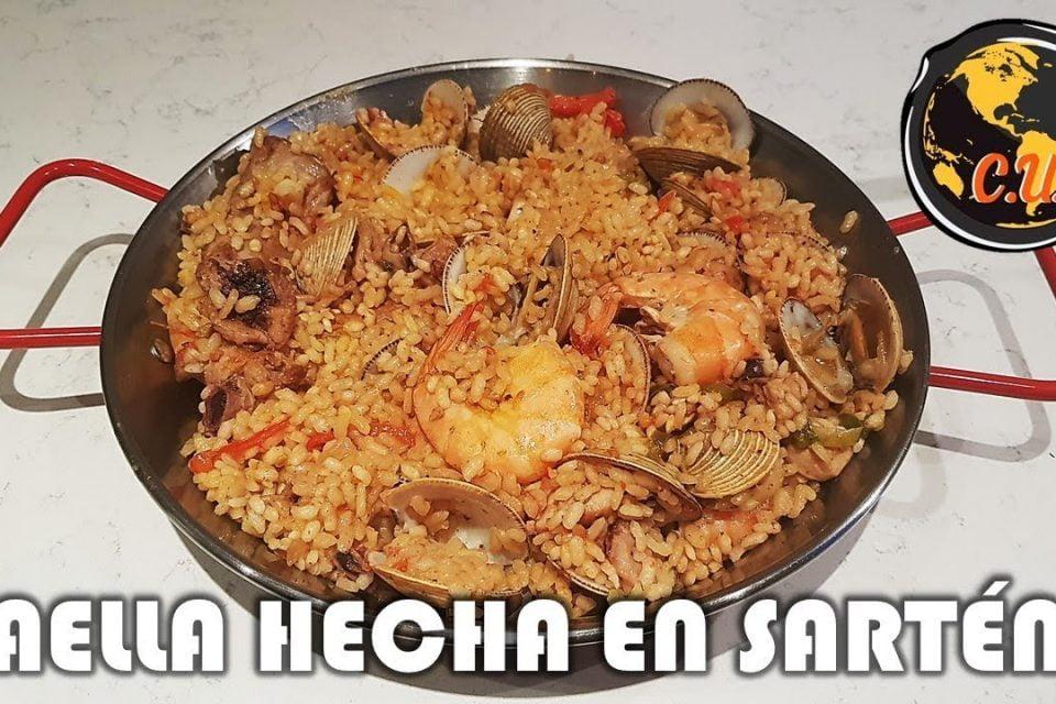 Paella Hecha en Sartén | Cocina Universal