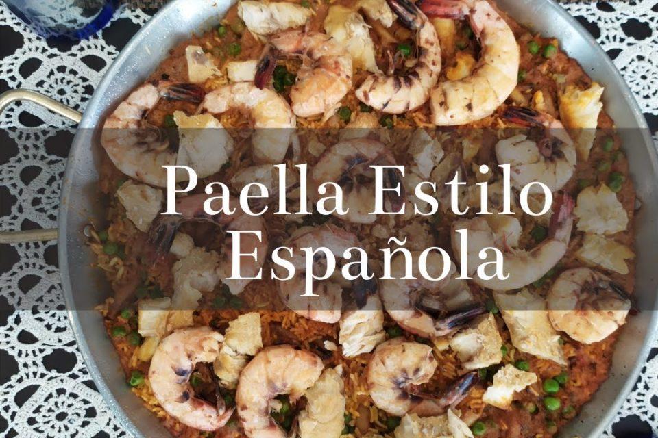 Paella de Mariscos   Estilo Española