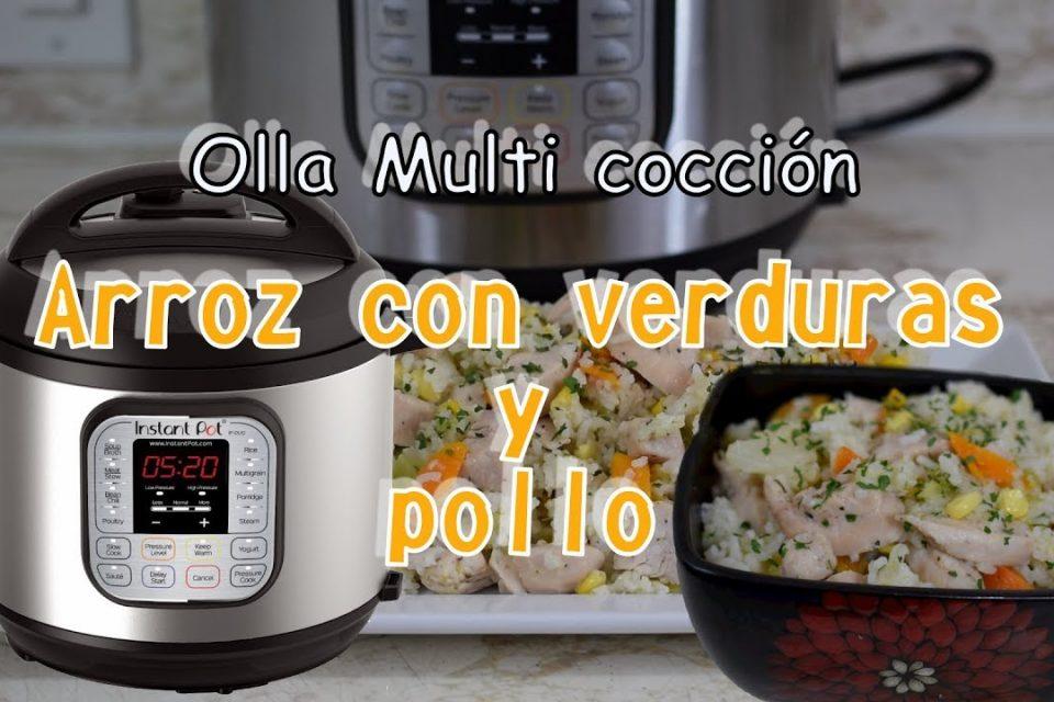 Probando la Olla de cocción múltiple *Receta de arroz con verduras y pollo*