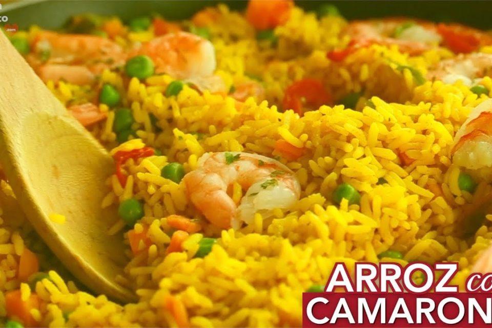Receta de  Camarones  con arroz - Receta fácil
