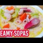 Sopa cremosa de pollo / sopa de macarrones Panlasang Pinoy receta