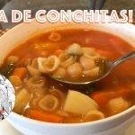 Sopa de Conchitas! Como hacer Sopa de Conchitas