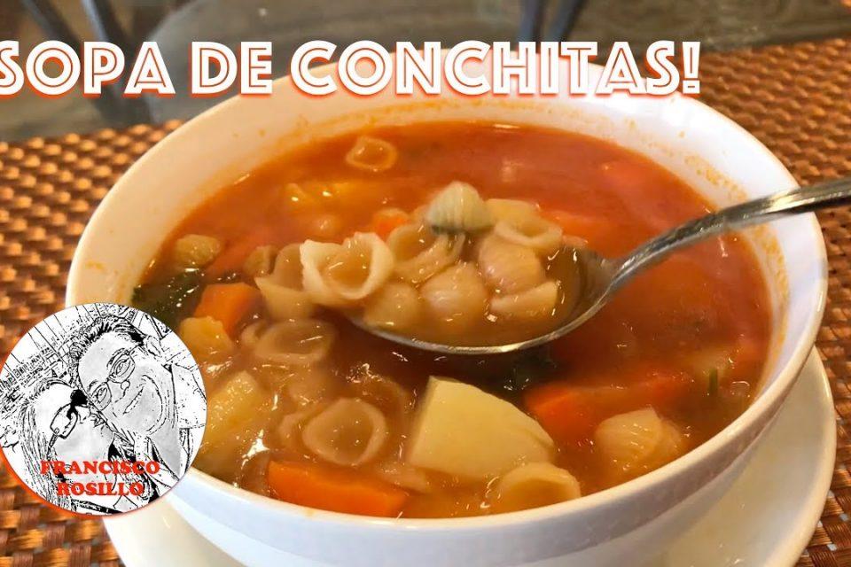 Sopa de Conchitas! Como hacer Sopa de Conchitas - Mexican Shell Soup