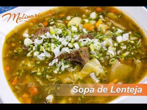 Sopa de Lenteja | Molinari tv Cocina Fácil