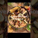 Una paella de marisco muy deliciosa y deliciosa 🇪🇸