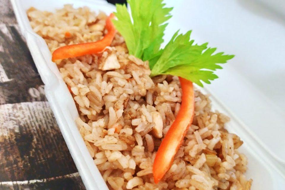 Arroz de verduras Mixtas con Pollo - Super fácil!!
