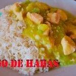 Como preparar GUISO DE HABAS con pollo, riquísimo,muy nutritiva, muy saludable