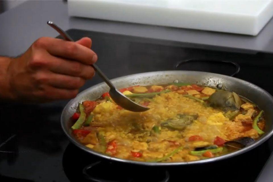 Paella de magro y verduras || Receta fácil y sencilla