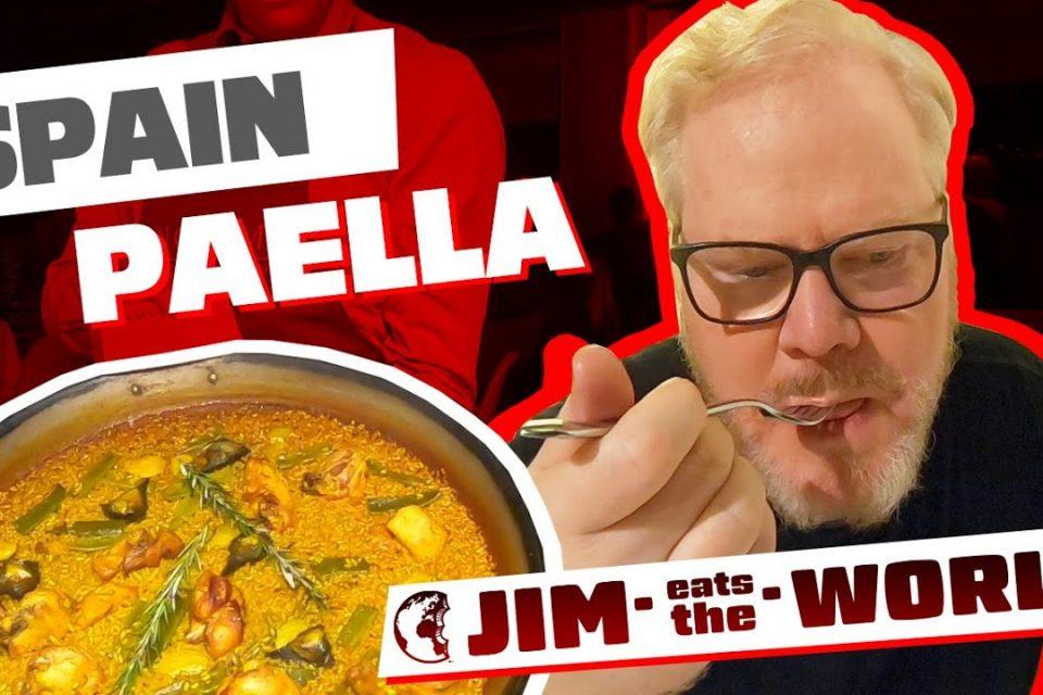 """Probé la paella en España"" Jim Eats The World Spain - Jim Gaffigan"