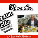 Receta de Arroz con Pollo, consome y ensalada