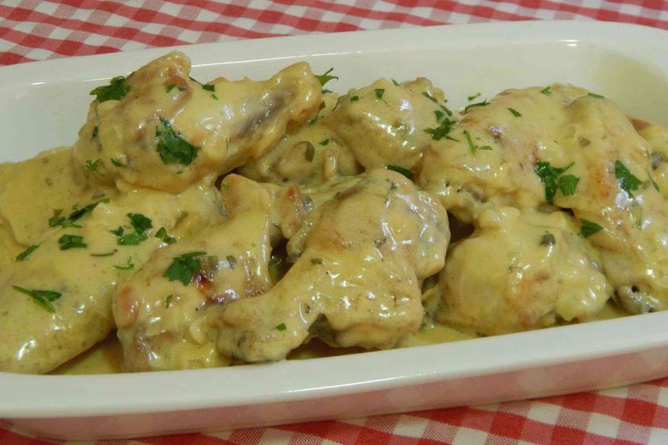 Receta de pollo con salsa de mostaza fácil y deliciosa