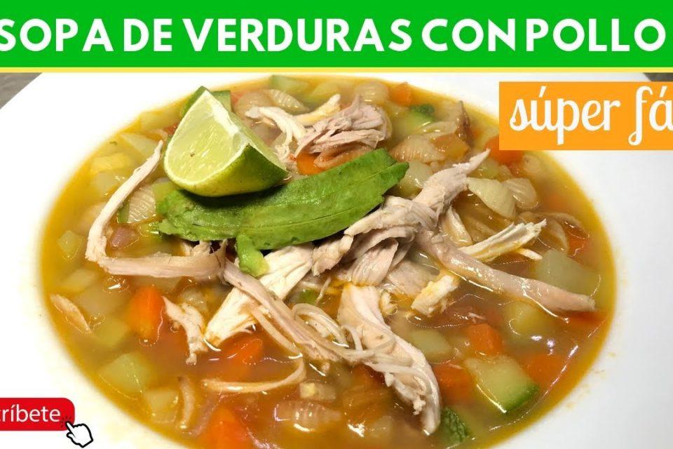 Sopa de verduras con pollo | Cocina de Addy