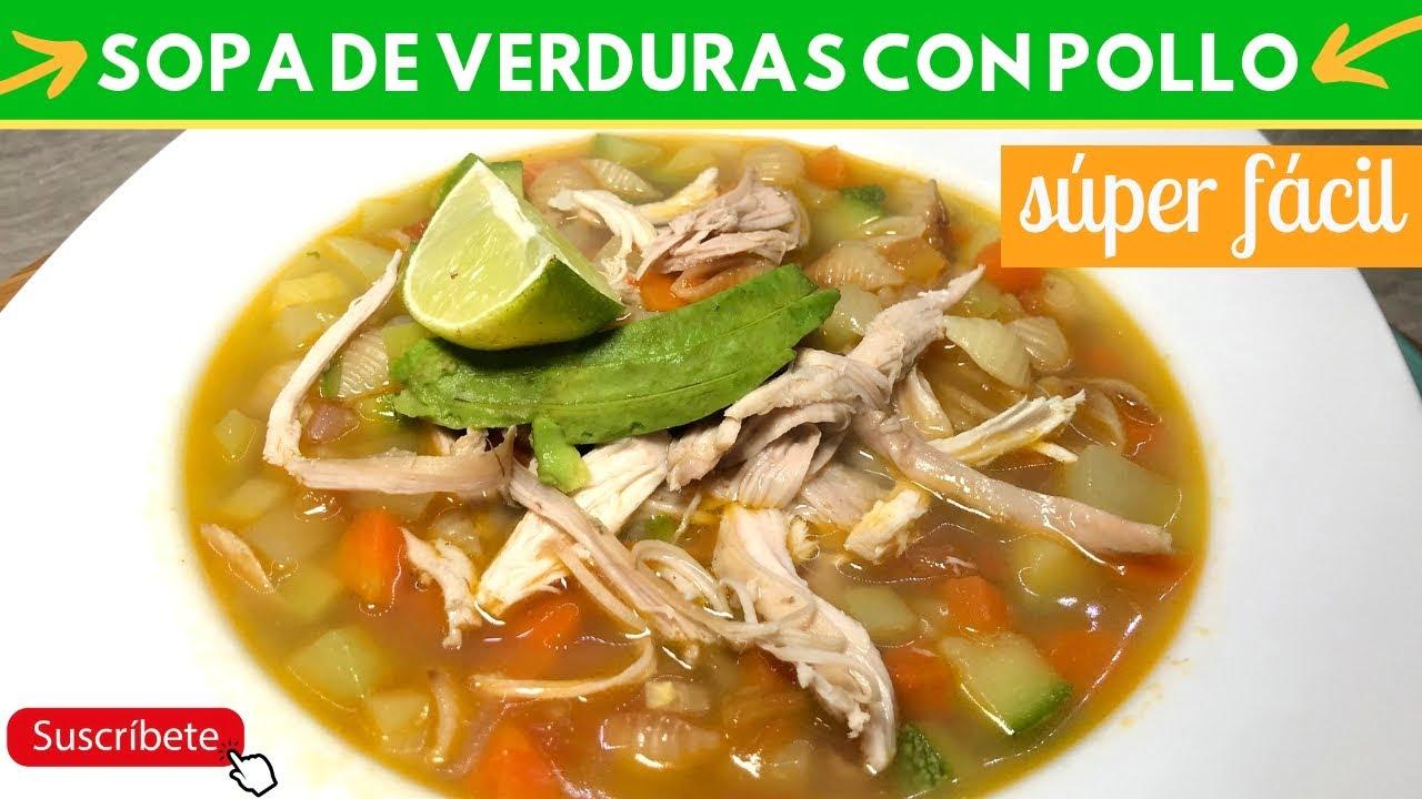 Sopa de verduras con pollo   Cocina de Addy