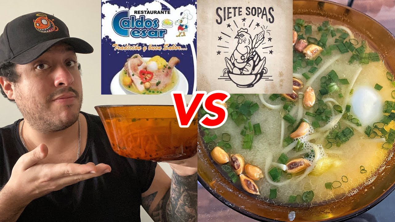 7 SOPAS VS CALDOS CESAR | elcholomena