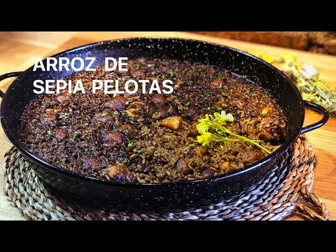 ARROZ DE SEPIA Y PELOTAS  Casa Arturos Paellas y Arroces