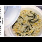 Arroz a la crema con chile poblano y granos de maíz