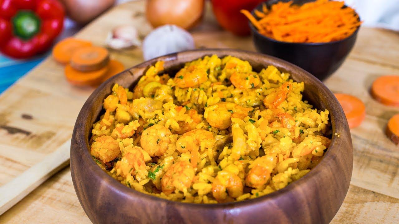 Arroz con Pollo y Camarones