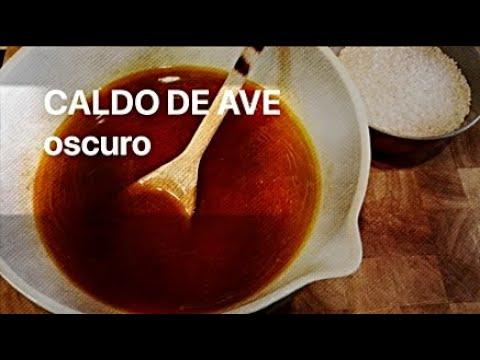 CALDO o FONDO DE AVE oscuro para hacer paellas y arroces  Casa Arturos Paellas y Arroces
