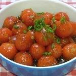 Cómo hacer tomates cherry con salsa agridulce, Una guarnición ideal fácil y económica