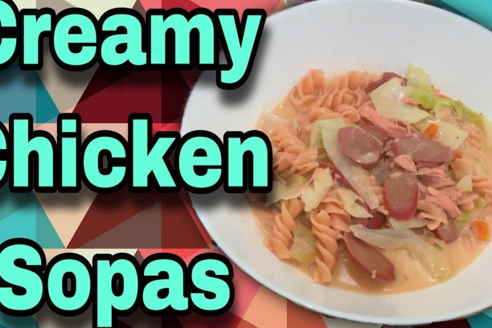 Cómo cocinar sopas cremosas de pollo caseras    Platos filipinos