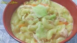 Hazlo con SOPAS para hacerlo aún más sabroso / Sopa de macarrones con pollo al estilo filipino / Dhine's Kitchen