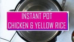 Instant Pot Chicken y arroz amarillo |  Arroz con Pollo |  NerdChefs.com