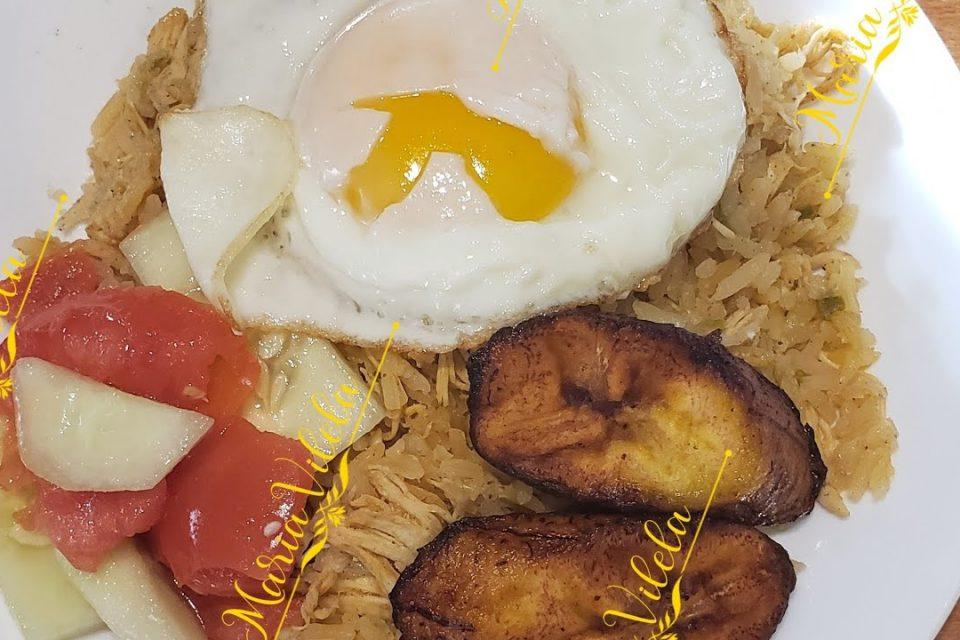 Majadito Tostado o arroz con pollo