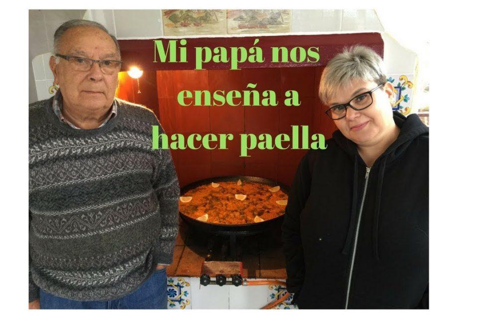 Mi papá nos enseña a hacer Paella Valenciana