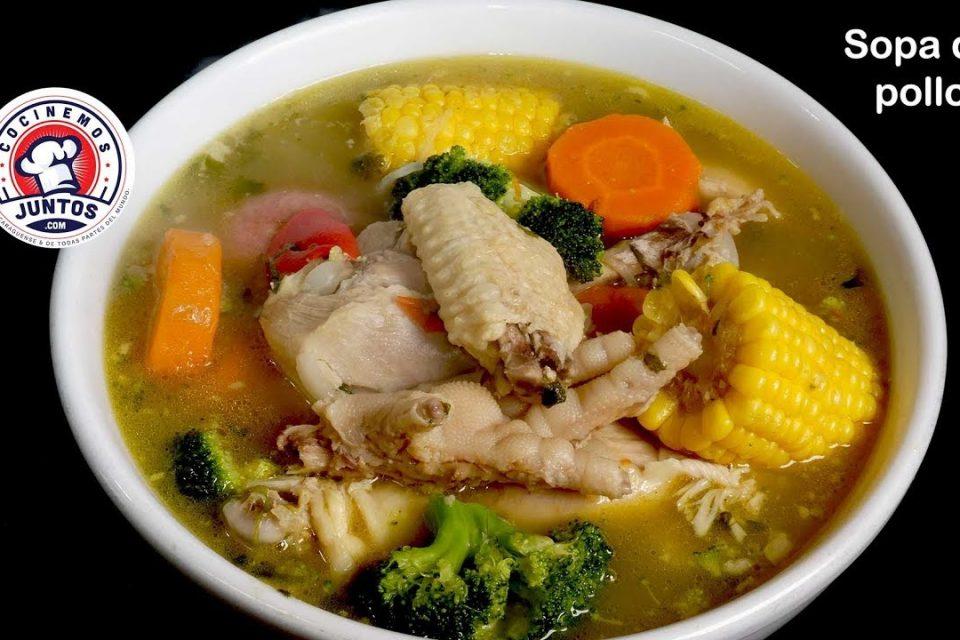 Otra manera de hacer una sopa de pollo con verduras