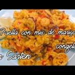 Paella con Mix de mariscos congelados, en sartén!#lacomidadecadadia#cocinaencasa