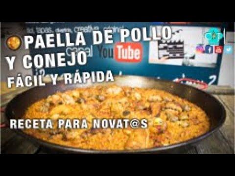Paella de Pollo y Conejo, receta fácil y rápida - Recetas de Cocina