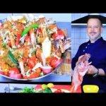Paella sin arroz con pescado, papas y horno en Paella Stat reis Kartoffel und 🥘🥘🥘 Gemüse