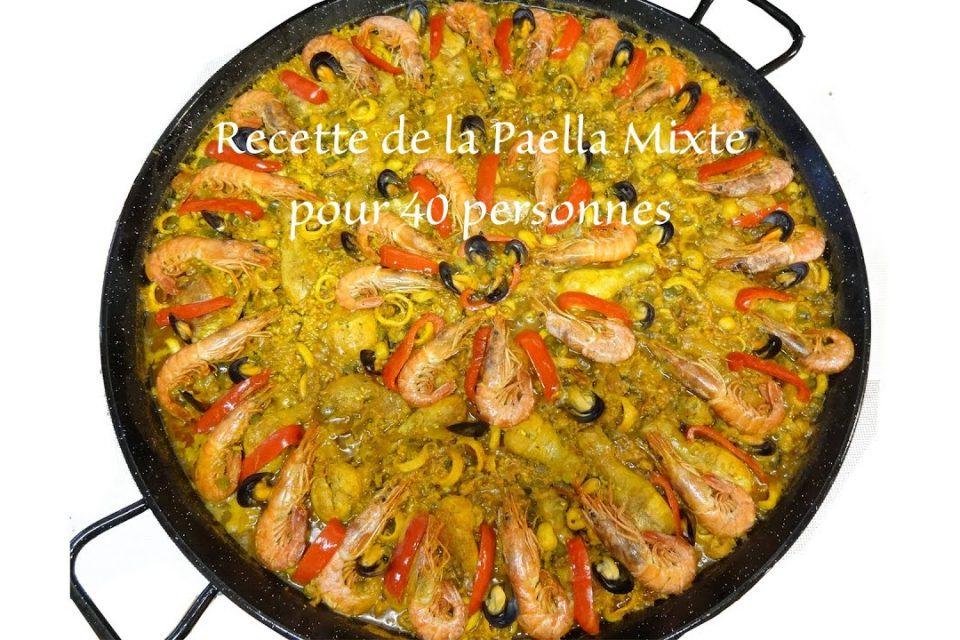 Receta de paella mixta tradicional 40 personas