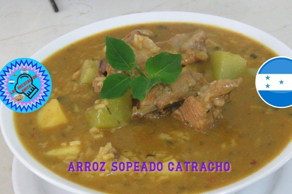 arroz sopeado catracho   , las recetas de anita