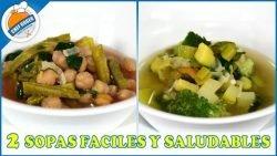 2 sopas saludables para comer sano, diabeticos, hipertencion, baja en carbo