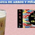 AGUA DE ARROZ Y PIÑA, una bebida refrescante, rica y fácil de preparar.