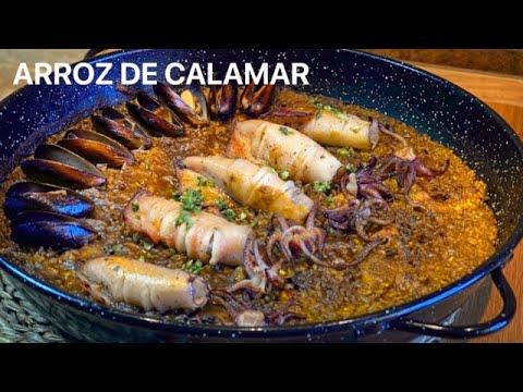 ARROZ DE CALAMARES toque salmorreta negra casa Arturos Paellas y Arroces