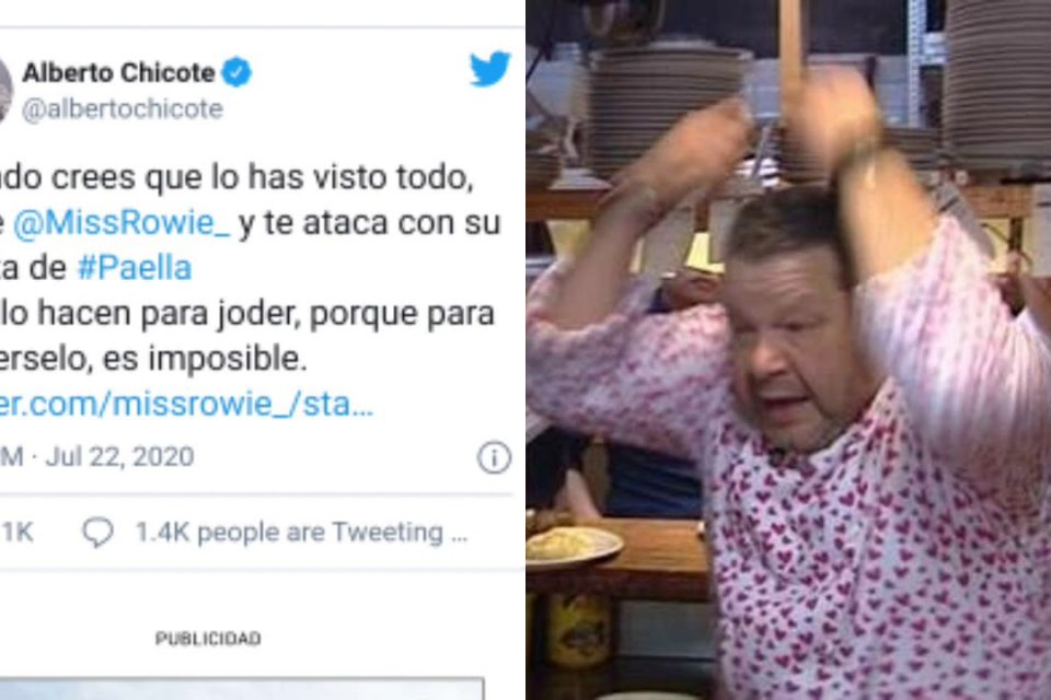 Alberto Chicote ESTALLA con esta PAELLA que se hizo viral en Twitter
