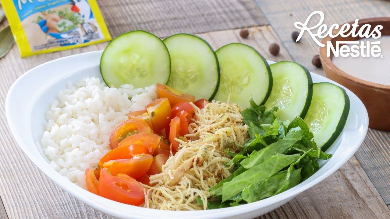 Bowl de Arroz con Pollo MAGGI| Recetas Nestlé CAM