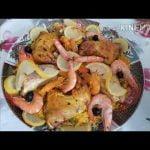 La paella de pescado y pollo es fácil, a mi manera y preparada en poco tiempo