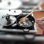La paella española con luna y mariscos es muy fácil con los platos más sabrosos # paella española #