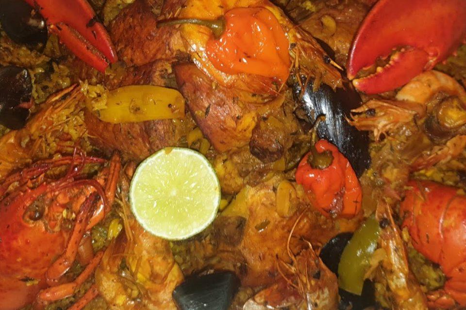 Paella senegalesa