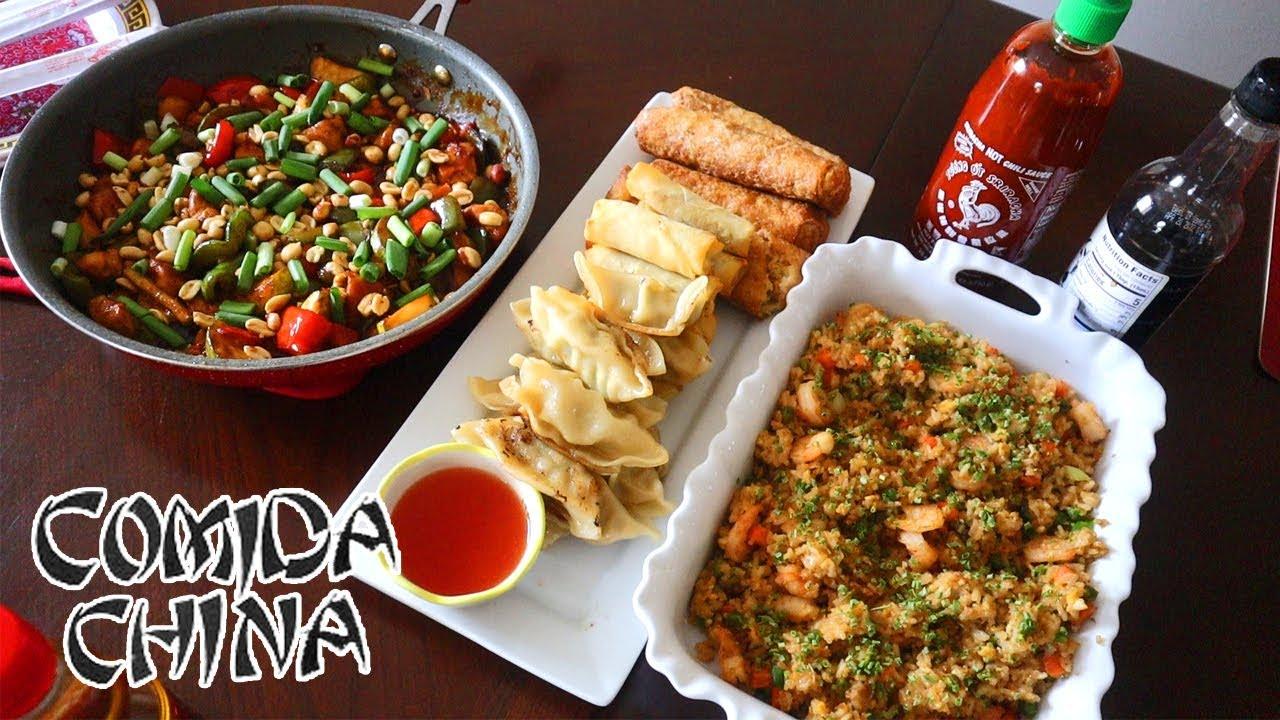 Pollo Kung Pao   Arroz Frito con Camarones   Comida China